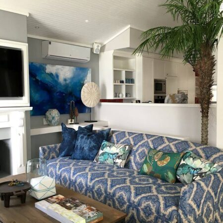 """""""clifton beach""""  - acrylic and glazes on canvas - commissioned by a funky interior designer for her stunning project, a residence on the beach in an affluent suburb."""