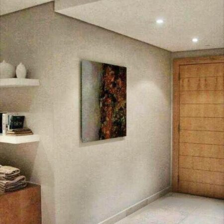 """""""degrade"""" - 1.2m x 1m - rust on metal plate A very challenging but rewarding installation. An exquisite apartment at the V&A Waterfront in Cape Town."""