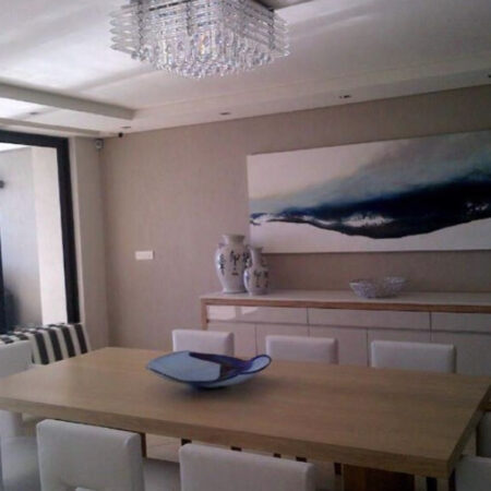 """""""aquapool"""" - 2m x 700 - a clean, crisp oil and spraypaint depiction of the ocean for this beautiful beach house apartment."""